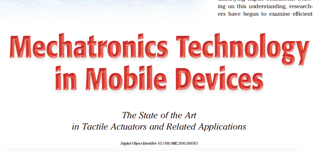 Mechatronics Technology in Mobile Devices
