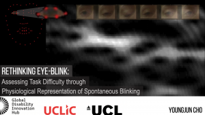 This is a title slide presenting Rethinking Eye-blink